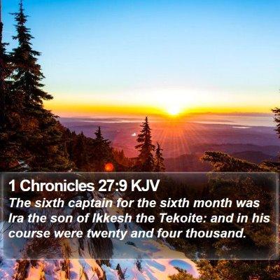 1 Chronicles 27:9 KJV Bible Verse Image