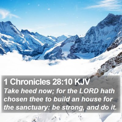 1 Chronicles 28:10 KJV Bible Verse Image