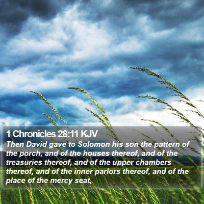 1 Chronicles 28:11 KJV Bible Verse Image