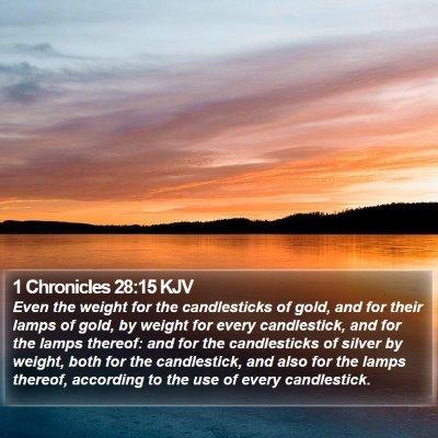 1 Chronicles 28:15 KJV Bible Verse Image