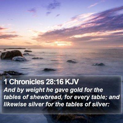 1 Chronicles 28:16 KJV Bible Verse Image