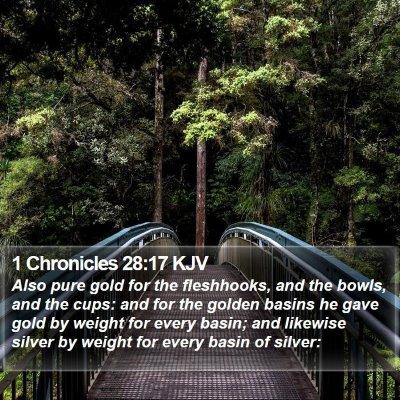 1 Chronicles 28:17 KJV Bible Verse Image