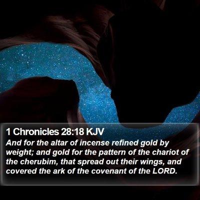 1 Chronicles 28:18 KJV Bible Verse Image