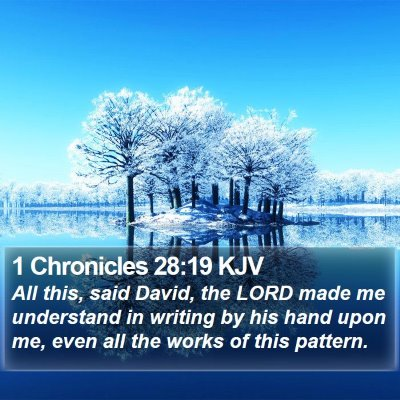 1 Chronicles 28:19 KJV Bible Verse Image