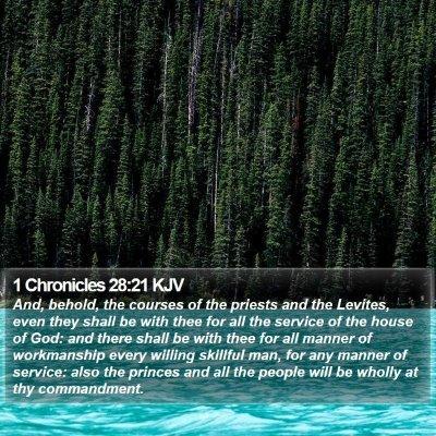 1 Chronicles 28:21 KJV Bible Verse Image