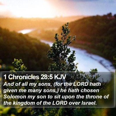 1 Chronicles 28:5 KJV Bible Verse Image