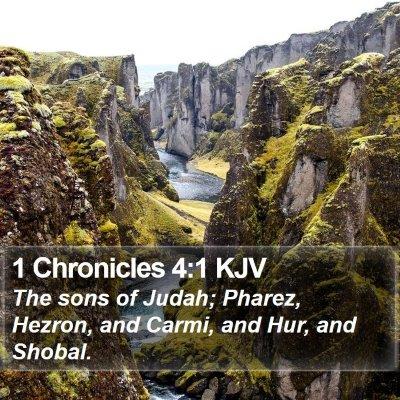 1 Chronicles 4:1 KJV Bible Verse Image