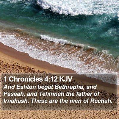 1 Chronicles 4:12 KJV Bible Verse Image
