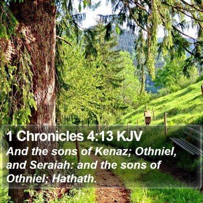 1 Chronicles 4:13 KJV Bible Verse Image