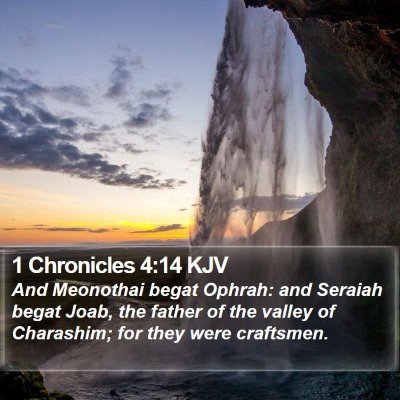 1 Chronicles 4:14 KJV Bible Verse Image