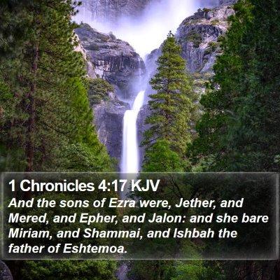 1 Chronicles 4:17 KJV Bible Verse Image