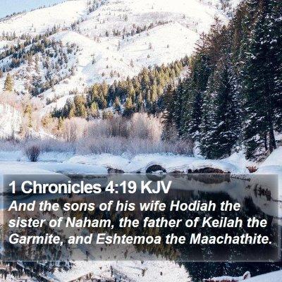 1 Chronicles 4:19 KJV Bible Verse Image