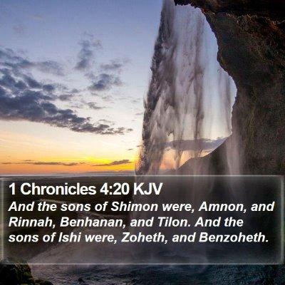1 Chronicles 4:20 KJV Bible Verse Image