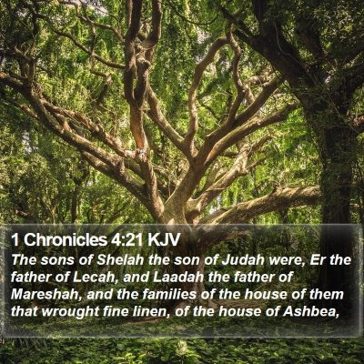 1 Chronicles 4:21 KJV Bible Verse Image