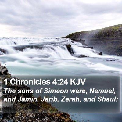 1 Chronicles 4:24 KJV Bible Verse Image