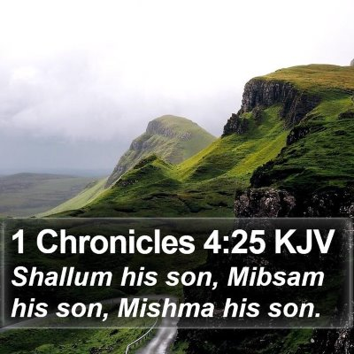 1 Chronicles 4:25 KJV Bible Verse Image