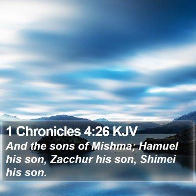 1 Chronicles 4:26 KJV Bible Verse Image