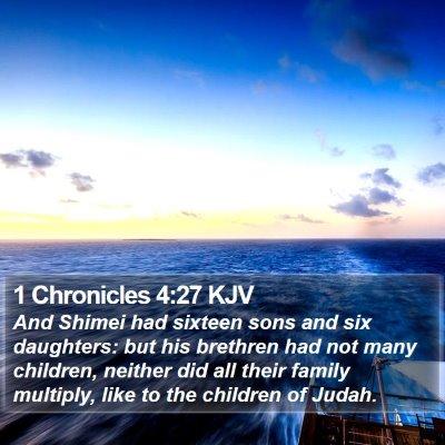 1 Chronicles 4:27 KJV Bible Verse Image