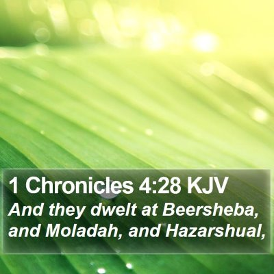 1 Chronicles 4:28 KJV Bible Verse Image