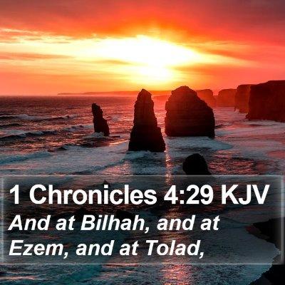 1 Chronicles 4:29 KJV Bible Verse Image
