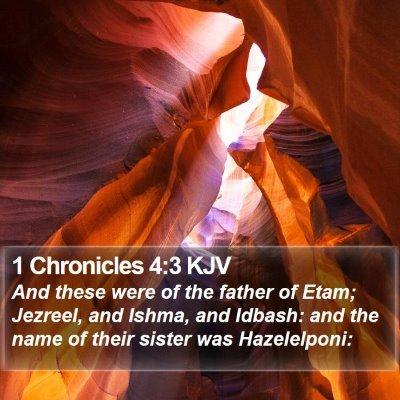 1 Chronicles 4:3 KJV Bible Verse Image