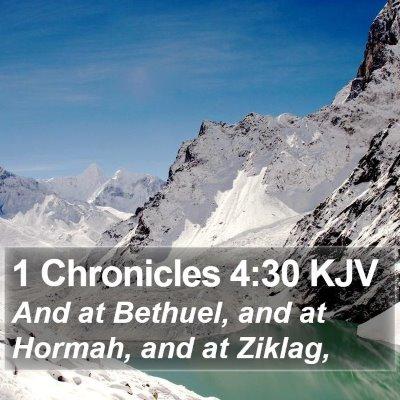 1 Chronicles 4:30 KJV Bible Verse Image