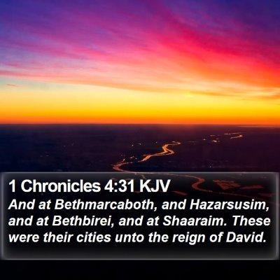 1 Chronicles 4:31 KJV Bible Verse Image