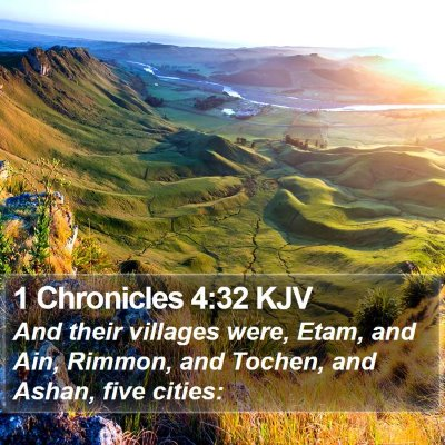 1 Chronicles 4:32 KJV Bible Verse Image