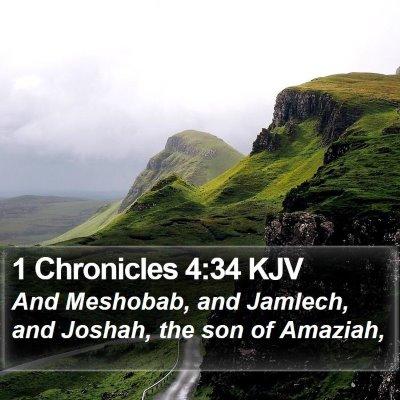 1 Chronicles 4:34 KJV Bible Verse Image