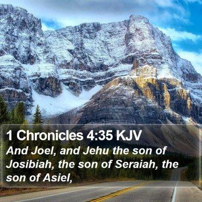 1 Chronicles 4:35 KJV Bible Verse Image