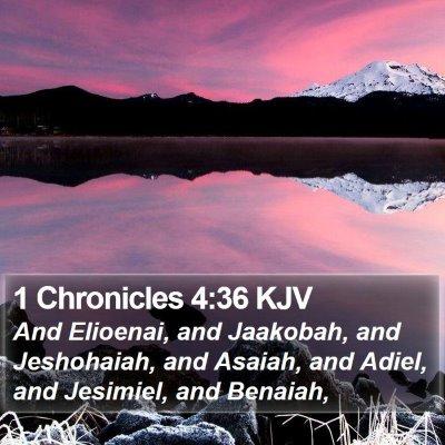 1 Chronicles 4:36 KJV Bible Verse Image