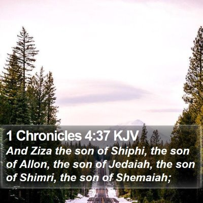 1 Chronicles 4:37 KJV Bible Verse Image