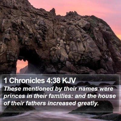 1 Chronicles 4:38 KJV Bible Verse Image