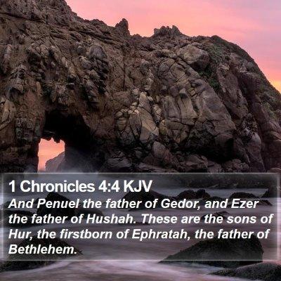 1 Chronicles 4:4 KJV Bible Verse Image