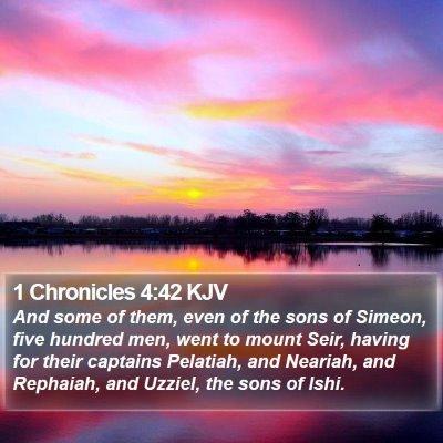 1 Chronicles 4:42 KJV Bible Verse Image