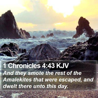 1 Chronicles 4:43 KJV Bible Verse Image