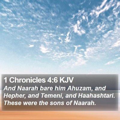 1 Chronicles 4:6 KJV Bible Verse Image