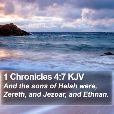 1 Chronicles 4:7 KJV Bible Verse Image