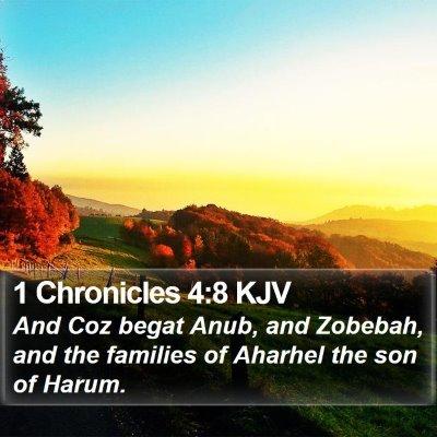 1 Chronicles 4:8 KJV Bible Verse Image
