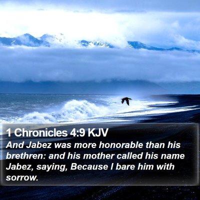 1 Chronicles 4:9 KJV Bible Verse Image