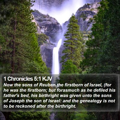 1 Chronicles 5:1 KJV Bible Verse Image
