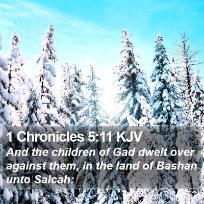 1 Chronicles 5:11 KJV Bible Verse Image