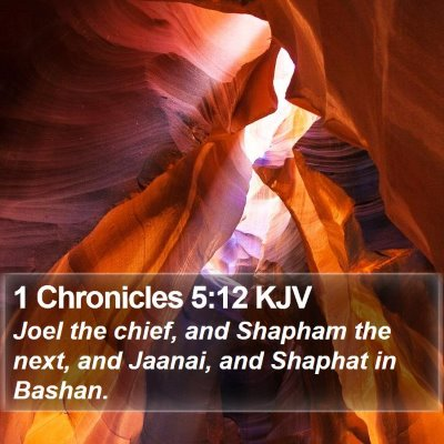 1 Chronicles 5:12 KJV Bible Verse Image