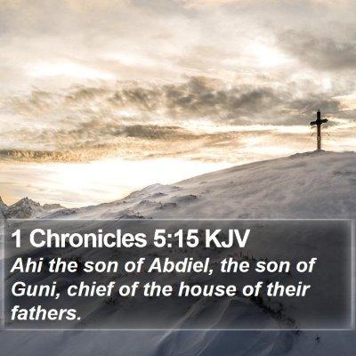 1 Chronicles 5:15 KJV Bible Verse Image