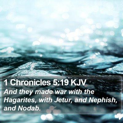 1 Chronicles 5:19 KJV Bible Verse Image