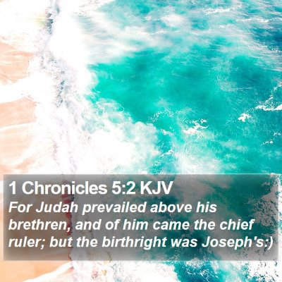 1 Chronicles 5:2 KJV Bible Verse Image