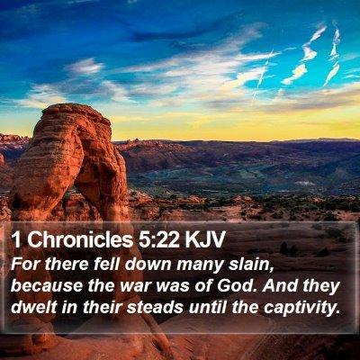 1 Chronicles 5:22 KJV Bible Verse Image