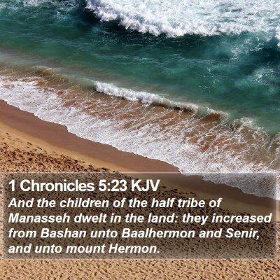 1 Chronicles 5:23 KJV Bible Verse Image