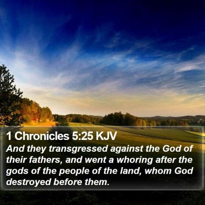 1 Chronicles 5:25 KJV Bible Verse Image