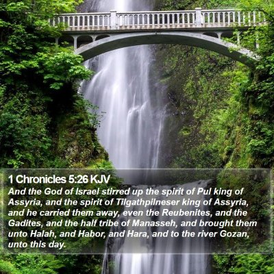1 Chronicles 5:26 KJV Bible Verse Image